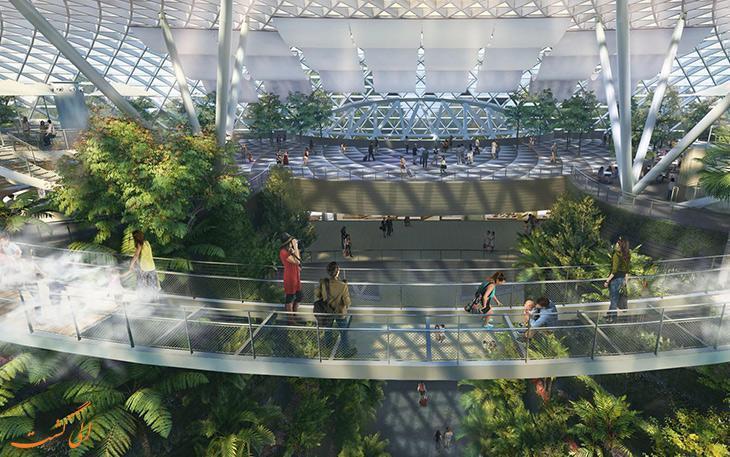 افتتاح پروژه جواهر فرودگاه چانگی در سنگاپور
