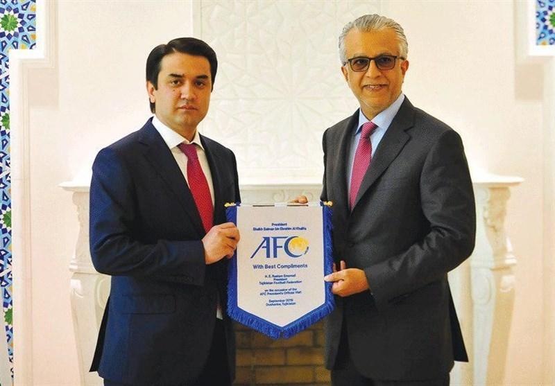 شیخ سلمان در ملاقات با رئیس کافا: از توسعه فوتبال آسیای میانه حمایت می کنیم
