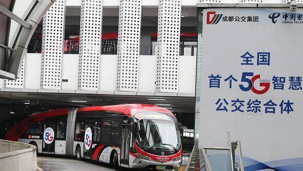 اولین اتوبوس 5G در چین شروع به کار کرد