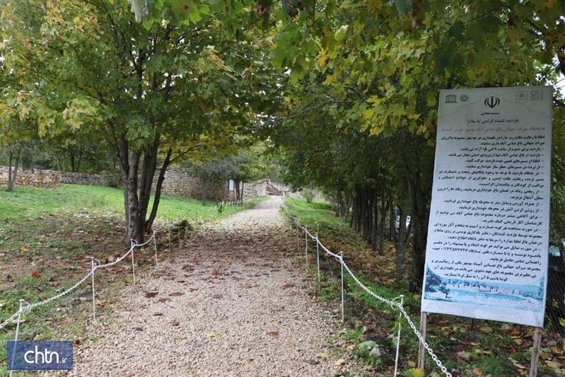 مرمت دروازه شرقی میراث جهانی باغ عباس آباد