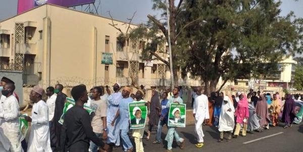 تجمع اعتراضی طرفداران شیخ زکزاکی در پایتخت نیجریه