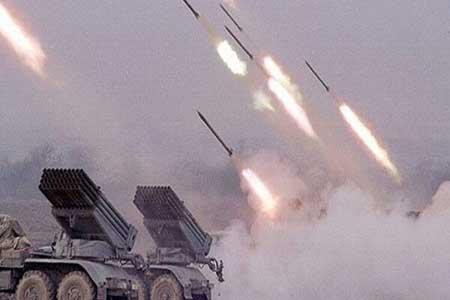 آتش سنگین ارتش سوریه بر روی مواضع تروریست ها در ادلب