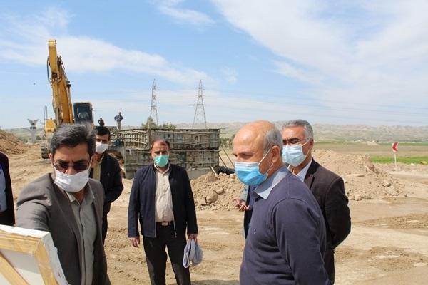 بهره برداری از تقاطع غیر همسطح صالح آباد در محور ایلام- مهران تا اربعین آینده