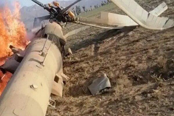بالگرد نظامی افغانستان سقوط کرد، 3 نفر کشته شدند
