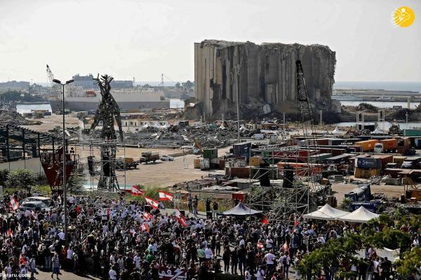 تظاهرات هزاران لبنانی در سالروز انفجار بیروت